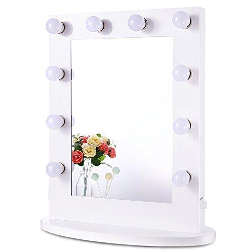Chende Espejo de Maquillaje con iluminación Ajustable para cosmético...