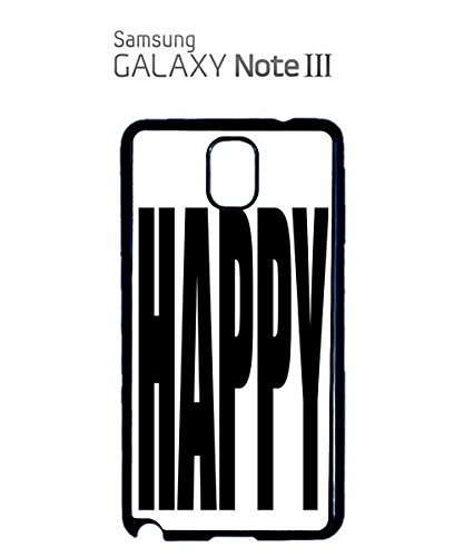 Happy Happay Summer Cool Mobile Cell Phone Case Samsung Galaxy S5 Black Blanc