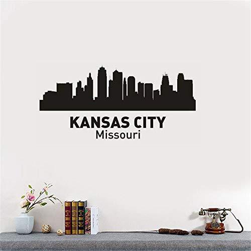 wandaufkleber 3d Wandtattoo Wohnzimmer Kansas City Decal Wahrzeichen Skyline Sketch Decals Poster Parede Home Decor für Wohnzimmer Schlafzimmer