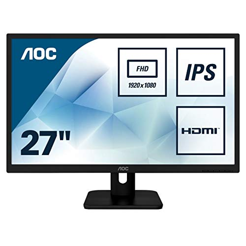 AOC 27E1H 68 cm (27 Zoll) Monitor (VGA, HDMI, IPS Panel, 1920 x 1080, 60 Hz) schwarz