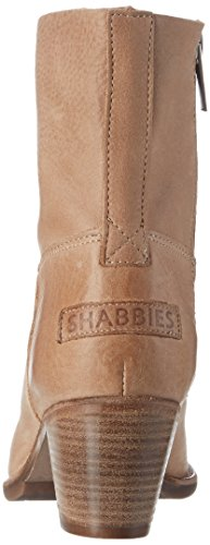 Shabbies Amsterdam Shabbies Stiefelette Mit Reisverschluß, Bottines femme Beige (Light Brown)