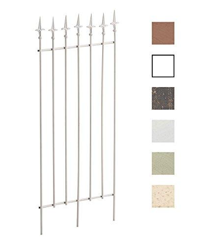 CLP Treillis de Jardin Elisa en Fer Robuste - Tuteur pour Plantes Grimpantes Taille 100 x 50 cm - Support à Rosiers - Différentes Couleurs: Blanc