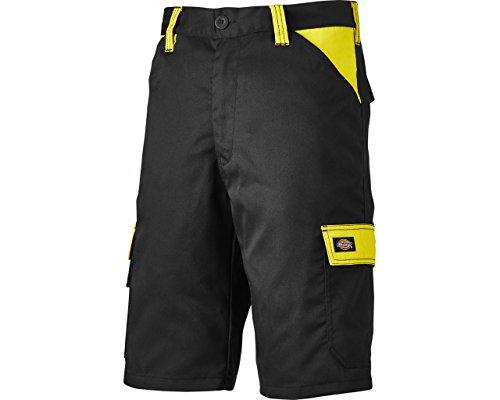 Dickies Everyday 24/7 Shorts, Two Tone, 240g/m, Optimale Passform, Arbeitsshorts Passend zu SH2007 Shirts (54, Schwarz/Gelb)