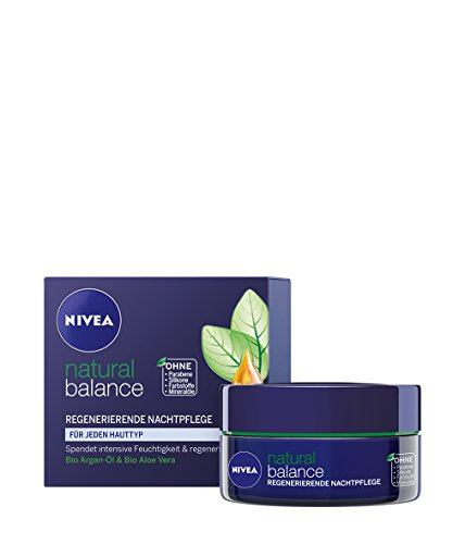 Nivea Natural Balance Regenerierende Nachtpflege, 1er Pack (1 x 50 ml)