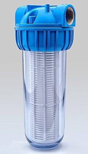 PRIESER Pumpen-Vorfilter, Wasserdurchfluss bis 5.000 l/h mit Wandhalterung und Filterschlüssel - 5