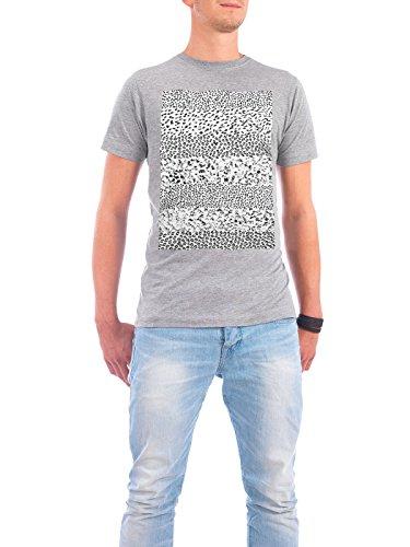 "Design T-Shirt Männer Continental Cotton ""Black & White Form"" - stylisches Shirt Abstrakt Geometrie Natur von Sarah Plaumann Grau"