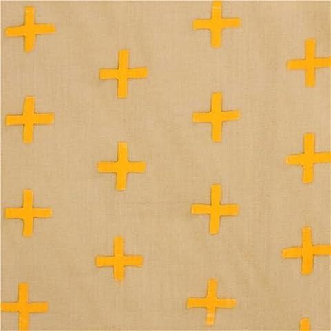 tessuto beige motivo croci Andover