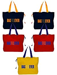 Bagforever Shopping Bag Reusable Grocery Bag Foldable Polyster Tote Long Handle Washable Large Size Heavy Duty... - B07GCJ52S3