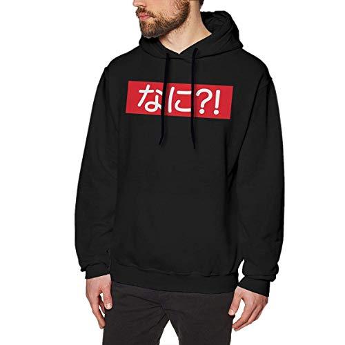 WSND Nani Funny Japanese Anime Mens Long Sleeve Sweatshirts Mans Hoodies Black Star Zip Youth Sweatshirt