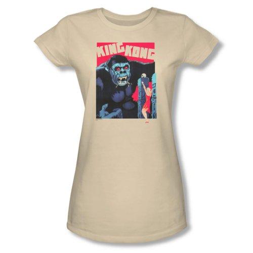 "King Kong-Maglietta da donna, colore: bianco Crema "" crema XX-Large"