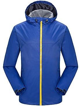 Zhuhaitf guapo Men Outdoor Waterproof Hooded Single Layer Jackets Warm Trench Coat