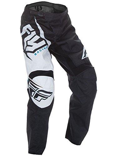 Preisvergleich Produktbild Flug 2017 F-16 Jugendliche Kinder MX Motocross Gelände Hose - schwarz/weiß - Schwarz/weiß, 46