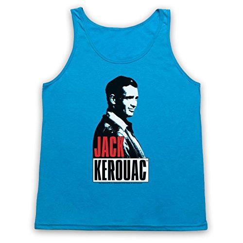 Jack Kerouac On The Road 2 Tank-Top Weste Neon Blau
