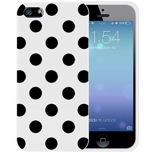 yesoo Coque de protection en TPU pour iPhone 5C Motif adorable en caoutchouc souple Afro Motif à pois