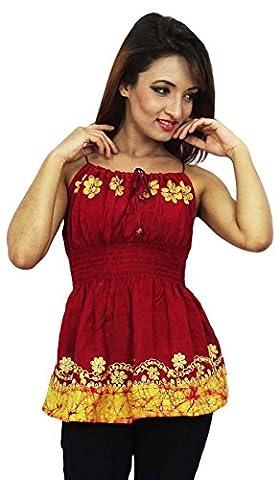 Batik Imprimer Rayon Robe À Smocks Summer Dress Porter Cadeau Top Pour Pour Femmes