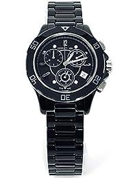 Cerruti 1881Diamond Mujer Reloj 36mm negro Dial con Diamantes de alta Tech Cerámica