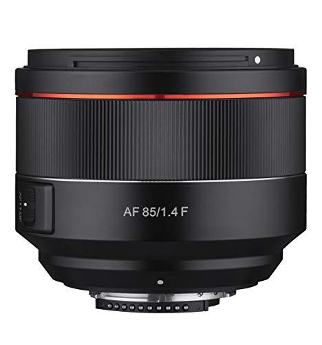 Samyang AF 85mm F1.4 F für Nikon F - 85mm Festbrennweite Autofokus Vollformat Objektiv für Nikon Spiegellose und Spiegelreflex DSLR Vollformat und APS-C Kameras mit Nikon F Mount, 77mm Filtergewinde