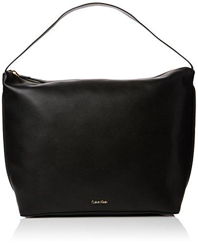 Kleine Hobo Black Handtaschen (Calvin Klein Damen Suave Hobo Schultertasche, Schwarz (Black/001), 18 x 28 x 45 cm)