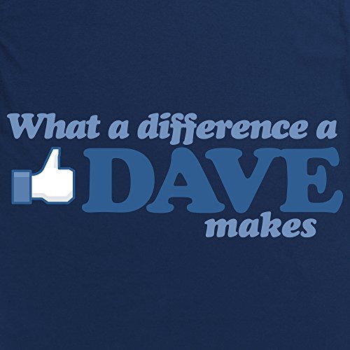 What A Difference A Dave Makes Langarmshirt, Herren Dunkelblau