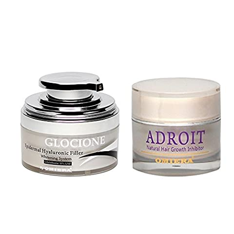 Facial Hair Inhibitor Cream And Dark Spot Corrector, 2 pc Anti-Aging Set, By Omiera Labs