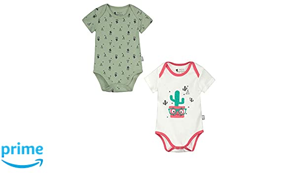 Petit B/éguin Baby Boys Changing Bodysuits with Love Pack of 2