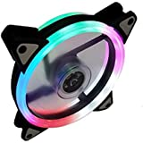 Dual Ring RGB LED Fan 120mm Rainbow with Dual Connectors
