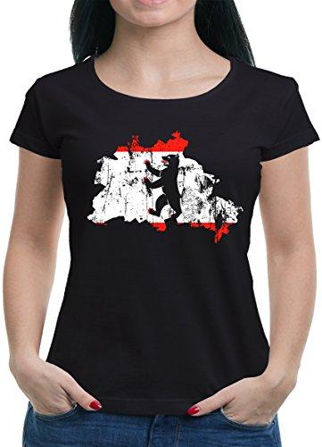 Touchlines Merchandise Berlin Hauptstadt Bundesland T-Shirt Damen L Schwarz