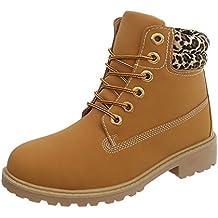 Zapatos para mujer Botas Tacón ancho Botines de cordones Ital-Design