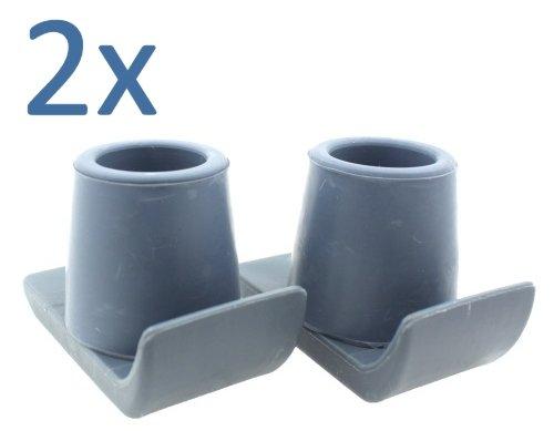 Lifeswonderful® - Gleiter mit Schutzkappe für Gehgestelle - Doppelpack - 25 mm - 27 mm