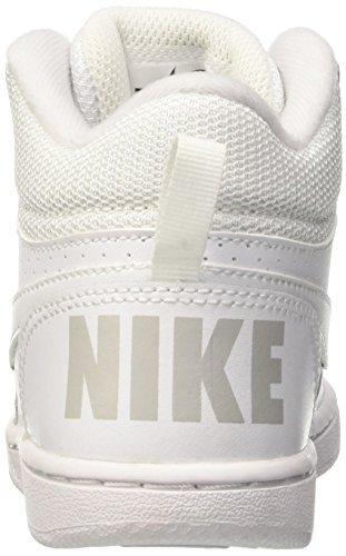 Jungen Borough Tribunal Meados Nike branco ma Branco branco Basketballschuhe Blanco gpEwEqBn