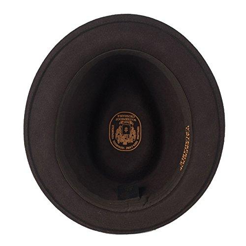 Unisexe Hommes Dames Imperméable Déformable Feutre Tribly Fedora Chapeau/Capuchon Hats brown