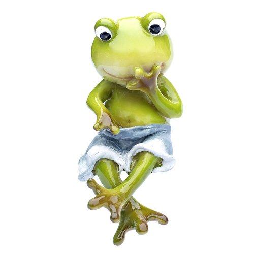 Deko Frosch Kantenhocker, Dekofigur Frosch, Froschfigur, Junge