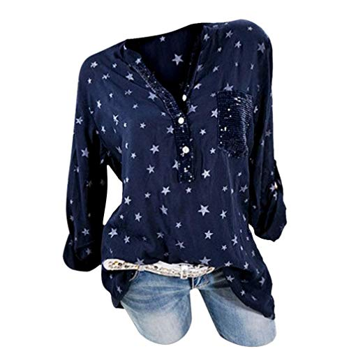 MEIbax Frauen Mode Plus Size Print Taschen Knopf -