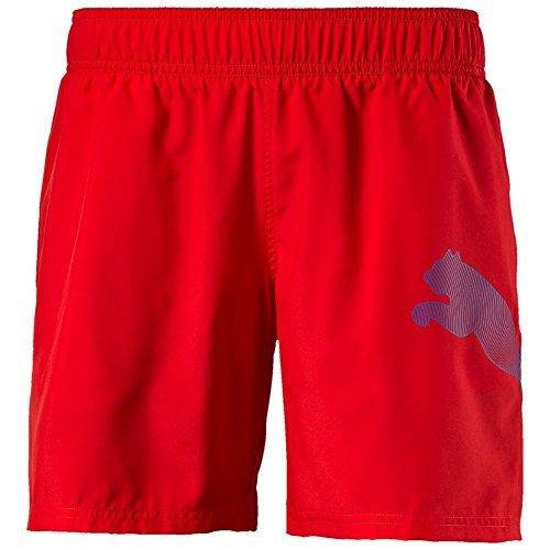 Puma Unisex Active Big Cat Beach Shorts, Red, 128, 512386 04 (Cat Big Puma)