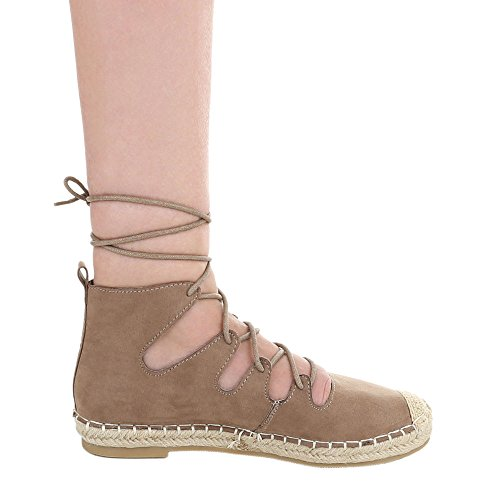 Ital-Design - Scarpe chiuse Donna Beige/Marrone