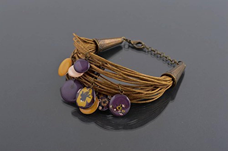 Pulsera artesanal elegante accesorio para mujer de cordones regalo original