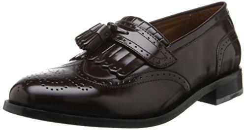 Florsheim Men's Brinson Kiltie Tassel Slip-On Loafer Shoe, burgundy, 9 3E US Kiltie Tassel
