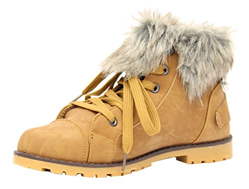 Ladies Womens Quilt Fur Lined Sports Lace Up Hi Top Trainers Ankle Boots Size