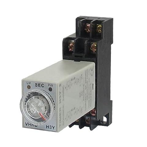 DealMux H3Y-2 24VDC DPDT 60 Seconds 8P Terminals Delay Timer Time Relay w Base
