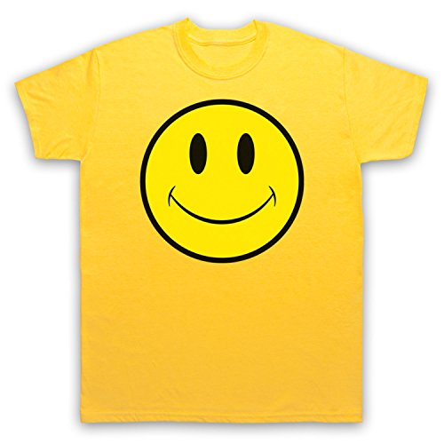 Acid House Smiley Face Herren T-Shirt Gelb