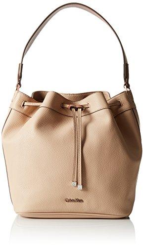 Calvin Klein Jeans JENNA DRAWSTRING BAG, Sacs bandoulière Beige - Beige (FRAPPE 096 096)