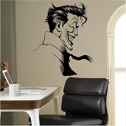 (58X73cm Joker Supervillain Wand Vinyl Aufkleber Batman Aufkleber Superhelden Wohnkultur Ideen Schlafzimmer Kinderzimmer Entfernbare Wandaufkleber)
