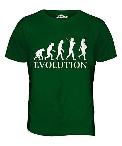 CandyMix Schwangerschaft Evolution Des Menschen Herren T Shirt Flaschengrün
