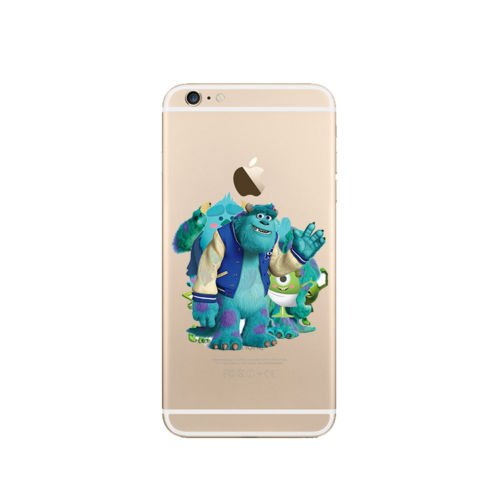 DISNEY MONSTER UNI TRANSPARENT CLEAR TPU SOFT CASE FOR APPLE IPHONE 7 PLUS M.U 7 M.U 6