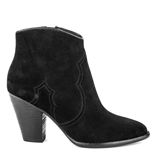 Ash JOE Heeled Boots Black Suede 41 Black