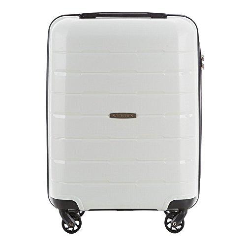 Stabiler Koffer-Trolley Handgepäck von WITTCHEN 55 x 38 x 20 cm 2,6 kg 29 L Weiß I Polypropylen Bordgepäck Bordcase