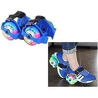 Lukzer 1 Pair Adjustable LED Flashing Drifting Colourful Street Roller/ Street Glider (2 Wheels) Whirlwind Pulley Skates for Kids (Random Color)