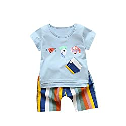 Clearance, Fashion Two Piece Toddler Kids Baby Boy Cartoon Dog Printed T Shirt Tops+ Shorts Outfits Clothes Set for 0-3 Years Old