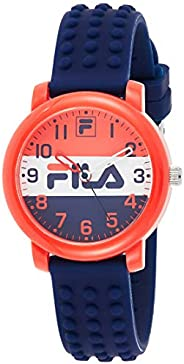 Fila Unisex-Child Quartz Watch, Analog Display and Silicone Strap 38-203-004