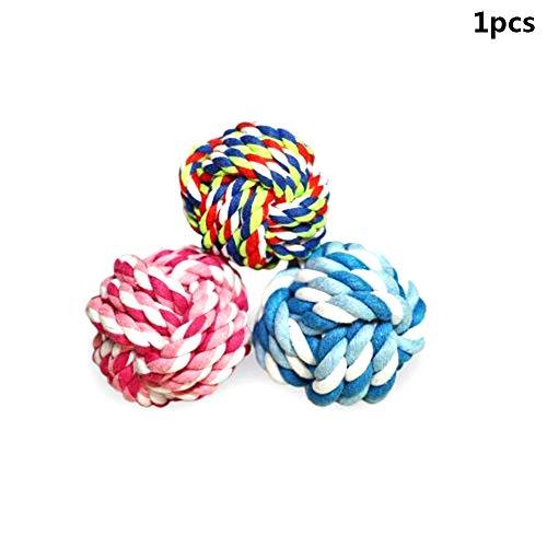 Goodplan 1 STÜCKE Kreative Pet Geflochtenen Seil Knoten Ball Hund Zähne Reinigung Ball Welpen Kauen Spielzeug Heimtierbedarf Zufällige Farbe -